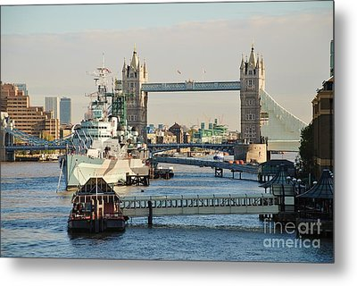 Hms Belfast London Metal Print