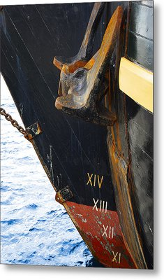 Hms Bounty Bow Metal Print