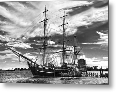 Hms Bounty Singer Island Metal Print by Debra and Dave Vanderlaan