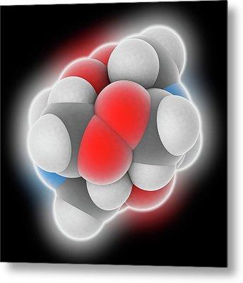 Hmtd Explosive Molecule Metal Print by Laguna Design