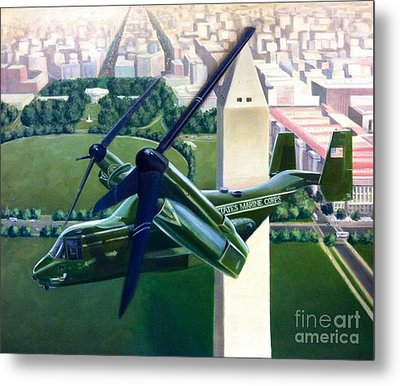 Metal Print featuring the painting Hmx-1 Mv-22 by Stephen Roberson
