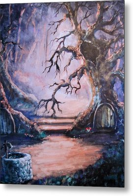 Hobbit Watering Hole Metal Print