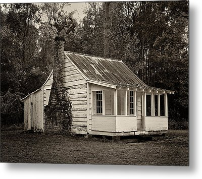 Hobcaw Cabin In Sepia Metal Print by Sandra Anderson