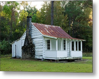 Hobcaw Cabin Metal Print by Sandra Anderson