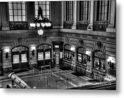 Hoboken Terminal Waiting Room Metal Print