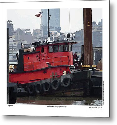 Metal Print featuring the photograph Hoboken Tug Boat  by Kenneth De Tore