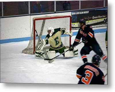 Hockey Off The Handle Metal Print by Thomas Woolworth