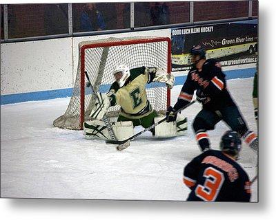 Hockey Off The Handle Metal Print