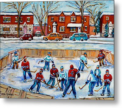 Hockey Rink At Van Horne Montreal Metal Print