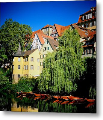 Hoelderlin Tower In Lovely Tuebingen Germany Metal Print by Matthias Hauser