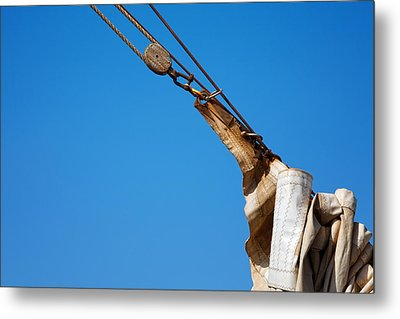 Hoist The Sails. Metal Print