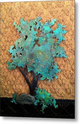 Hokkidachi Copper Bonsai Metal Print by Vanessa Williams