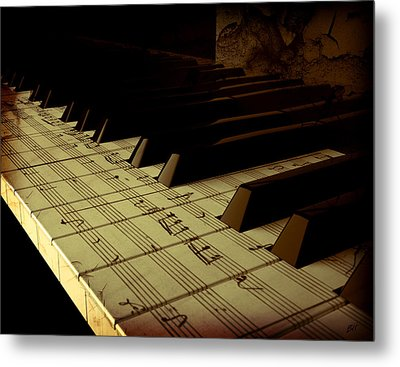 hold Piano Metal Print by Bruno Haver