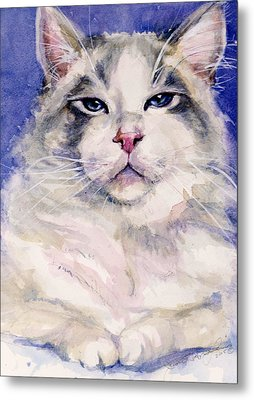 Holding Court Metal Print by Judith Levins