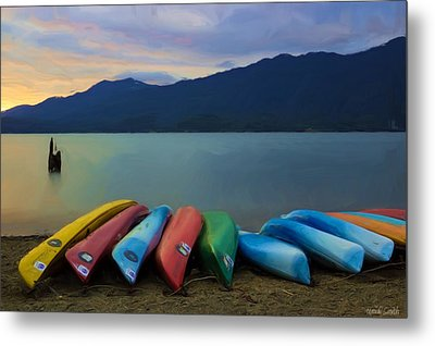 Holding On To Summer Metal Print