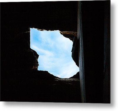Hole In The Roof  Metal Print by Gary Heller