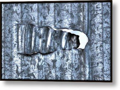 Hole In Wall Metal Print