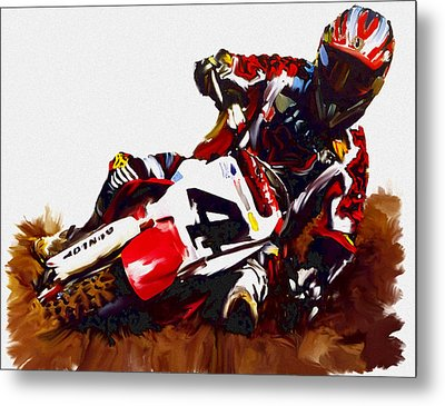 Hole Shot Ricky Carmichael Metal Print by Iconic Images Art Gallery David Pucciarelli