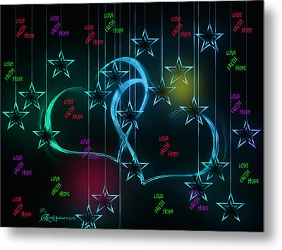 Holiday 2-featured In 'visions Of The Night And The Christian Connection' Metal Print by EricaMaxine  Price