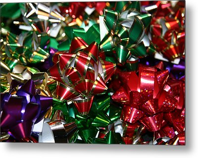 Holiday Bows Metal Print by Denyse Duhaime