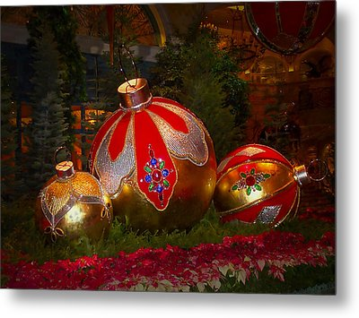 Holiday Decorations Metal Print by Lucinda Walter
