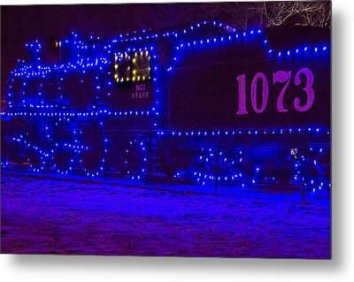 Holiday Express Train Metal Print