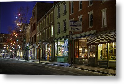 Metal Print featuring the photograph Holiday Front by David Hufstader