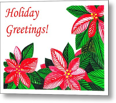 Holiday Greetings Metal Print by Irina Sztukowski