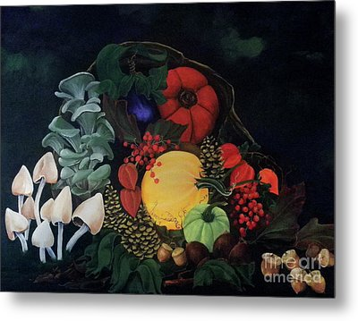 Holiday Harvest Metal Print by D L Gerring