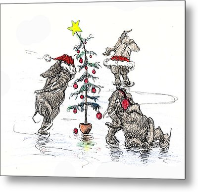 Holiday Ice Metal Print by Donna Tucker