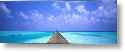 Holiday Island Maldives Metal Print by Panoramic Images
