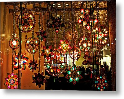 Metal Print featuring the photograph Holiday Lights by Suzanne Stout