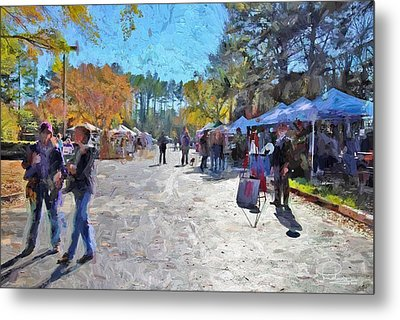 Holiday Market Metal Print