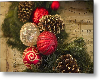 Holiday Music Metal Print by Rebecca Cozart