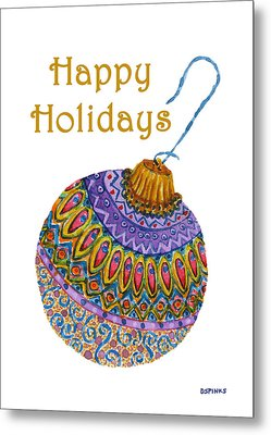 Holiday Ornament Metal Print by Debra Spinks