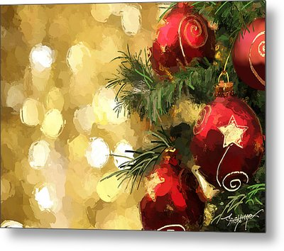 Holiday Ornaments Metal Print by Anthony Fishburne