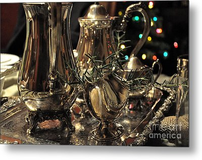 Holiday Silver  2 Metal Print by Tanya  Searcy