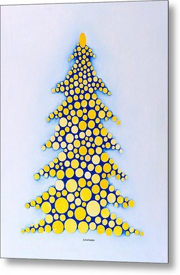 Holiday Tree #2 Metal Print by Thomas Gronowski