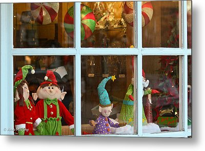 Metal Print featuring the photograph Holiday Window by Ann Murphy