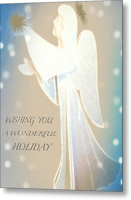 Holiday Wish Card Metal Print by Debra     Vatalaro