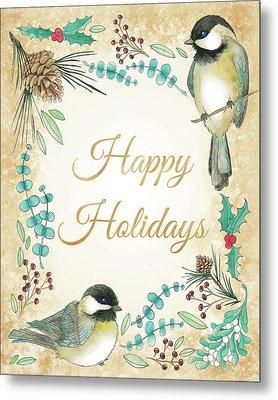 Holiday Wishes II Metal Print by Elyse Deneige