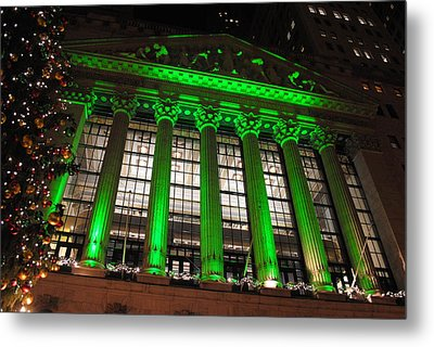Metal Print featuring the photograph Holidays At Ny Stock Exchange by Robert  Moss