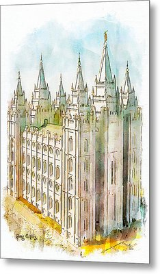 Holiness To The Lord Metal Print by Greg Collins
