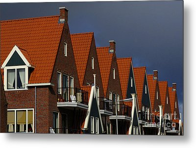Holland Row Of Roof Tops Metal Print by Bob Christopher