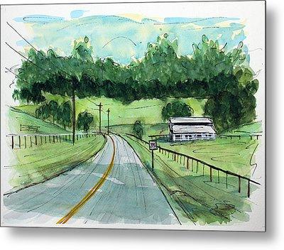Holly Tree Gap Road Metal Print by Tim Ross