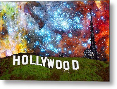 Hollywood 2 - Home Of The Stars By Sharon Cummings Metal Print by Sharon Cummings