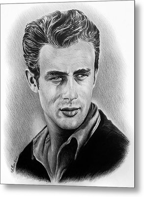 Hollywood Greats James Dean Metal Print by Andrew Read