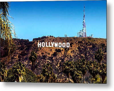 Hollywood Sign Metal Print by Az Jackson