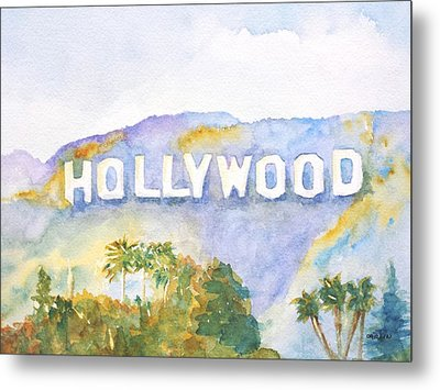 Hollywood Sign California Metal Print by Carlin Blahnik