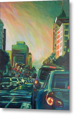 Hollywood Sunshower Metal Print
